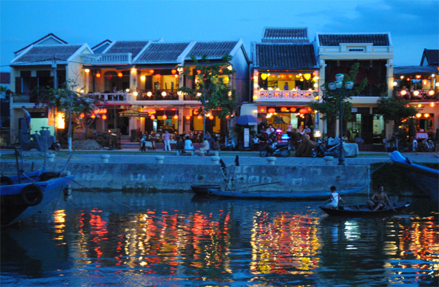 Road of lantern lights in Hoi An