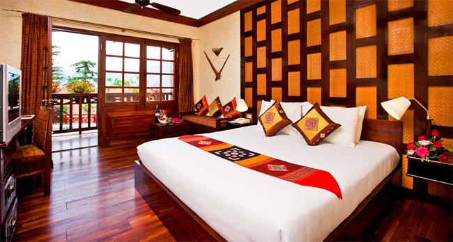 Guest room at Victoria Sapa Hotel