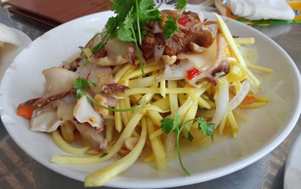 Mango Salad with Snail - - One of 10 best dishes in Phu Quoc, Vietnam