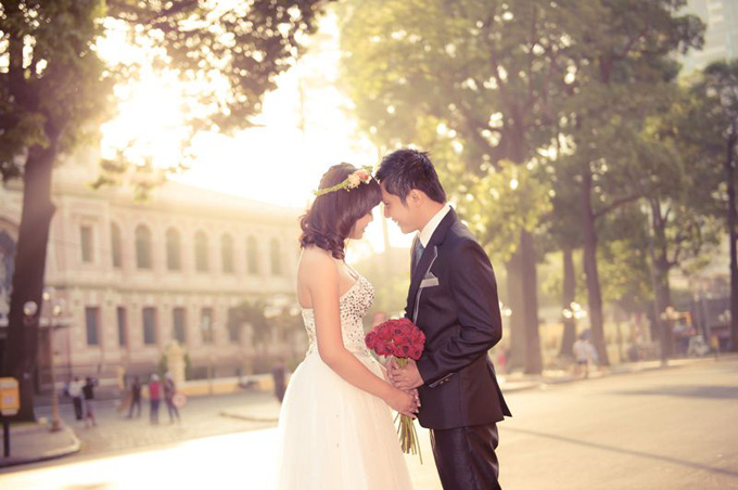 Pre-wedding photography at Fine Arts Museum