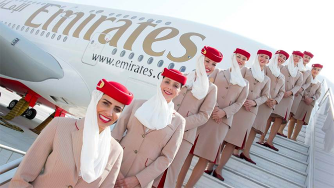 Emirates Airlines Operates flights from South Africa to Vietnam
