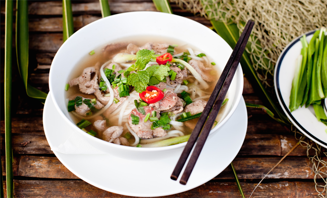 Pho - The noodles soup, also most the most popular food in Vietnam