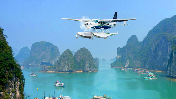 Seaplane tour to Halong Bay from Hanoi
