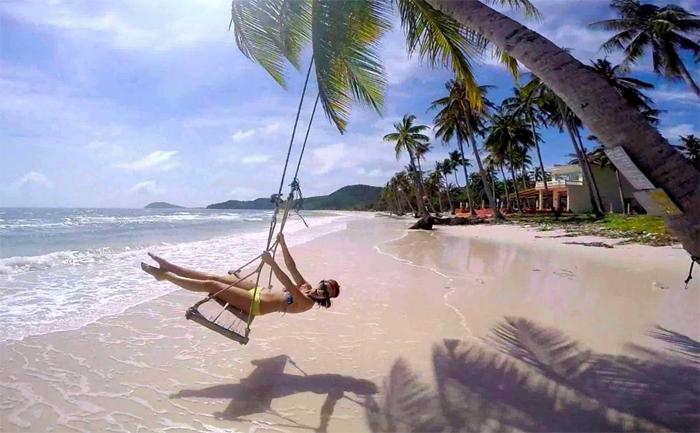 White sand beach at Phu Quoc Island