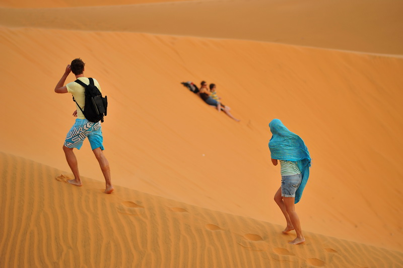 Red Sand Dunes in Mui Ne Vietnam