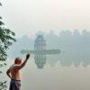 In the morning at Hoan Kiem Lake, Hanoi – Vietnam