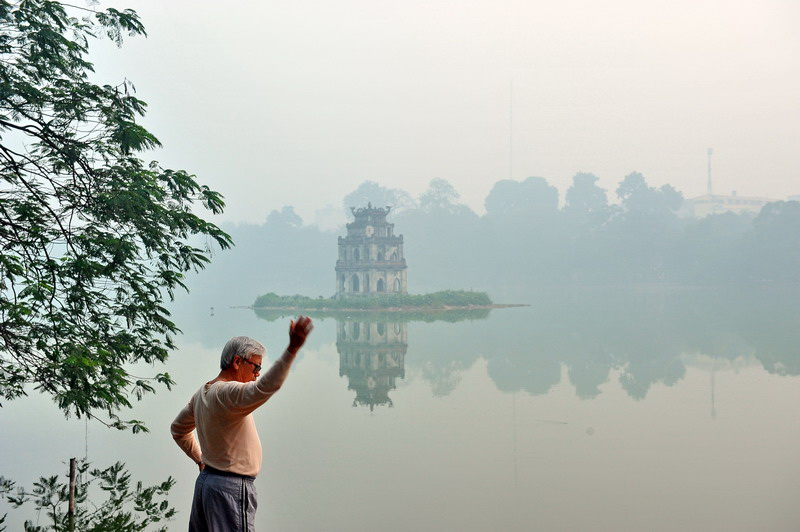 In the morning at Hoan Kiem Lake, Hanoi – Vietnam