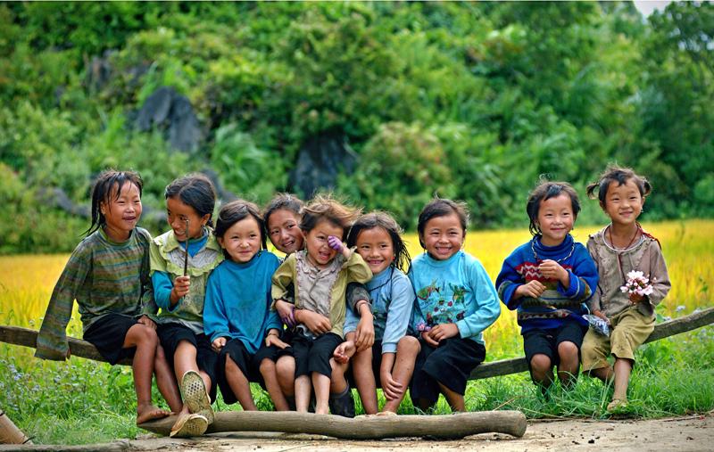 Children at Ban Ho Village, Sapa, Vietnam