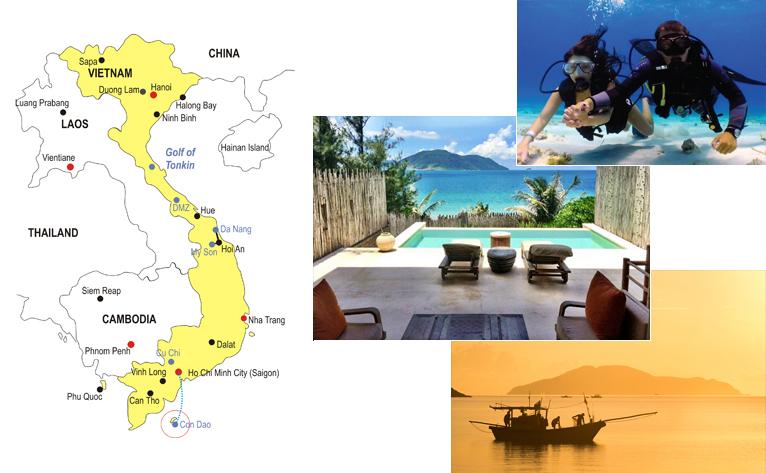 Con Dao Island Honeymoon Tour Map
