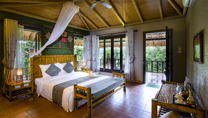 Double room at Mai Chau Ecolodge