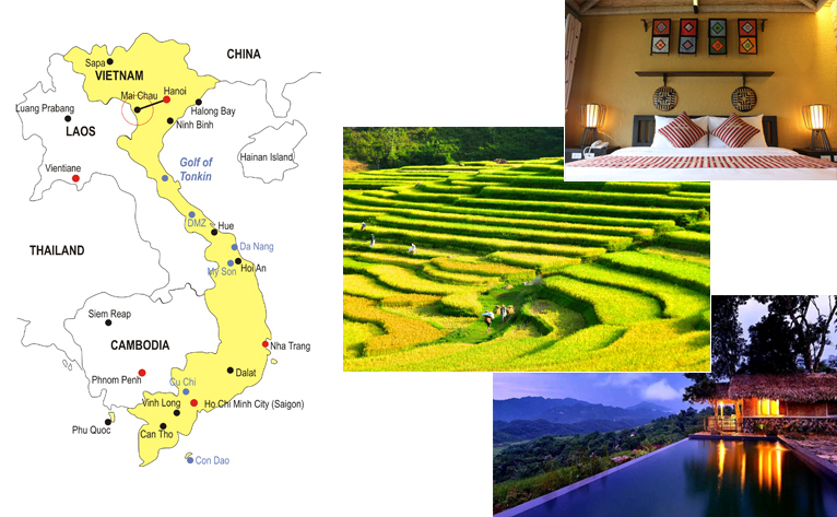 5-Day Mai Chau - Pu Luong Tour Map