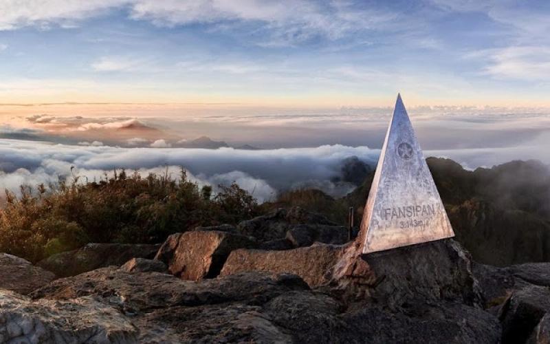 Fansipan Mount in Hoang Lien Son Montain Range, Vietnam