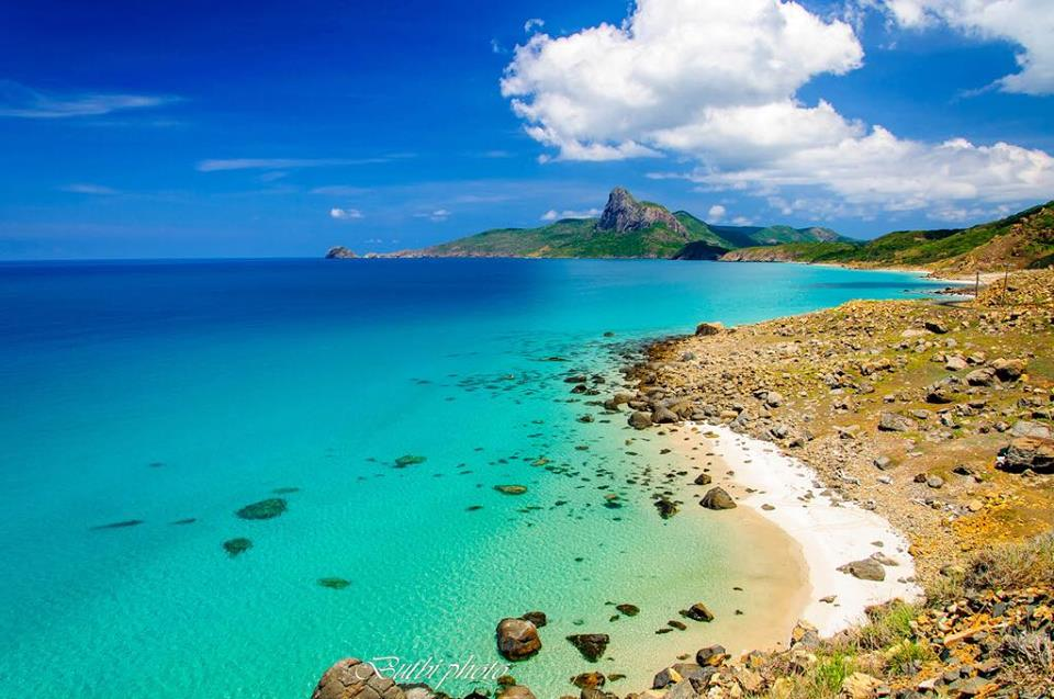 Timid Beach and Love Mountain at Con Dao Islands