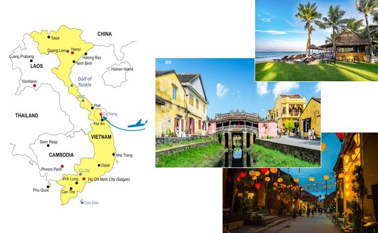 5-Day Vietnam Honeymoon Hoi An Tour Map