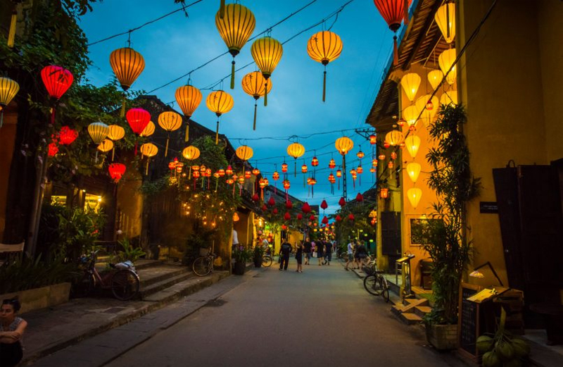 Colorful Lit-up Lanterns in Hoi An, Vietnam