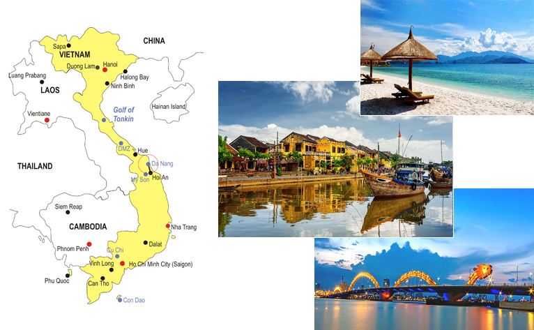 4-Day Da Nang Beach Vacation Map
