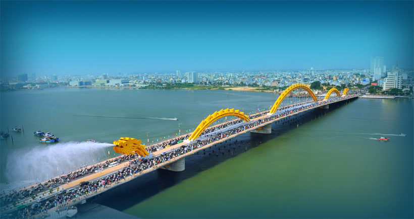 Dragon Bridge in Da Nang City, Vietnam