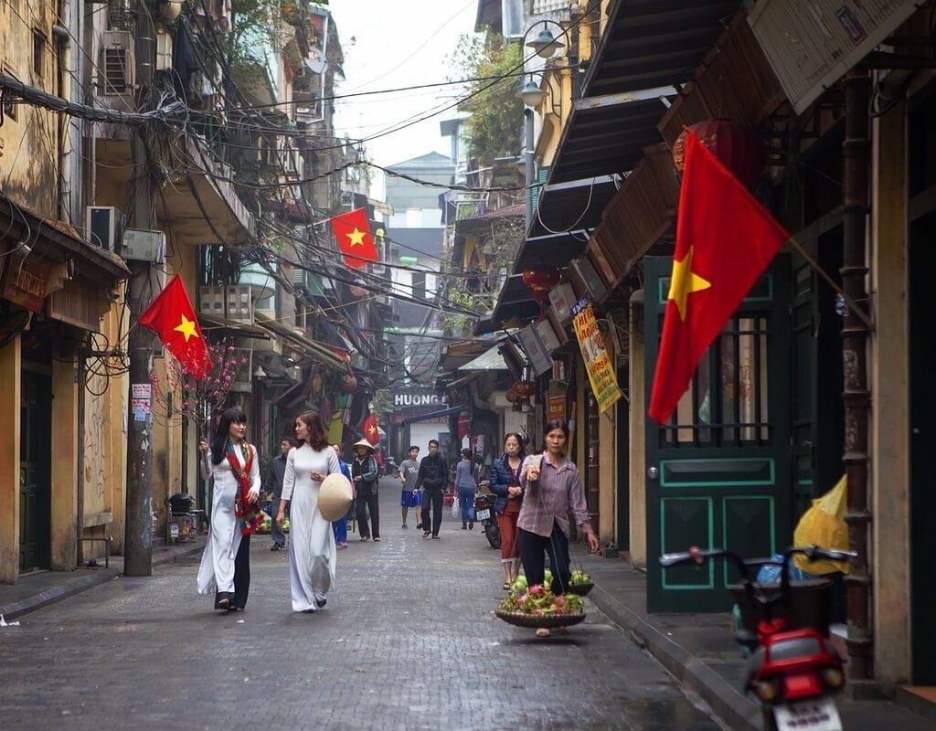 The Old Quarter of Hanoi City
