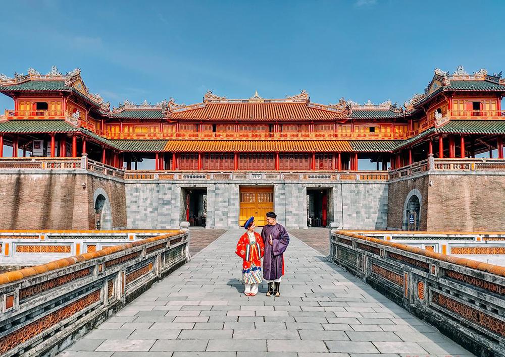 Imperial Citadel of Hue City, Central Vietnam
